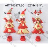 불꽃 인사말을%s 가진 사치품은 문의 손잡이, 3 Asst 크리스마스 훈장을 써 넣는다