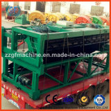 Gran máquina de Turner del estiércol vegetal de la placa de cadena de la profundidad