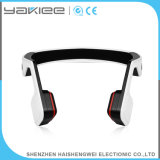 Fone de ouvido branco sem fio do telefone de Bluetooth da condução de osso