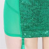 La venta caliente al por mayor Paypal valida la ropa interior de seda atractiva de los camisones