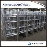 Échafaudage se pliant en aluminium avec des roues