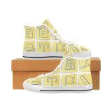 Il disegno della fabbrica di Dropshipping i vostri propri pattini con la sublimazione stampa le scarpe da tennis unisex classiche della tela di canapa