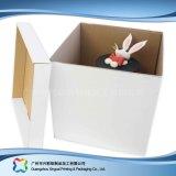 Cadre de gâteau de empaquetage de papier de carton mignon avec le guichet (xc-fbk-041c)