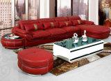 Sofá de cuero de /Luxurious de la talla del sofá grande de la sala de estar (UL-NS258)