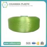 1000d filé cyan de filament de la qualité pp pour le remplissage de câble