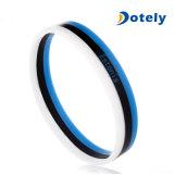 Fascia di manopola doppia della gomma di silicone del braccialetto di modo di colori con UV