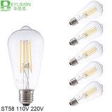 lampadina del filamento di 2W St58 LED