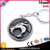 Novo design Cool Shape Metal Turbo Keychain com Antique Emboss Logo