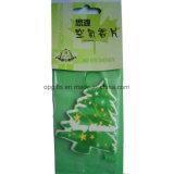 Ambientador de aire de papel promocional de la Navidad/venta al por mayor de encargo del ambientador de aire del coche
