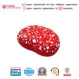 Bohne-Geformter kundenspezifischer Zinn-Kasten für Schmucksachen/Nahrung/Geschenk/Schokolade/Süßigkeit (B001-V15)