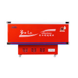 congelador liso do console do gabinete da porta 500L deslizante com canto inoxidável