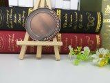 Medalla caliente modificada para requisitos particulares de la pieza inserta del espacio en blanco del metal del bronce de la venta para el recuerdo