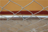 Galvanisiertes Kettenlink-Zaun-Panel mit Querklammer
