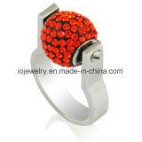 Gepersonaliseerde Juwelen 316 Ring van de Parel van het Roestvrij staal de Verwisselbare