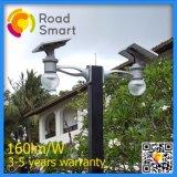 A luz de rua solar Integrated do diodo emissor de luz projetou para o pátio, parque