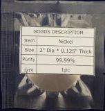 99.99% Reinheit-Nickel-Spritzenziel der Qualitäts, Ni