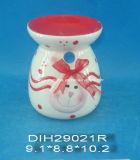 Bruciatore di incenso di ceramica dipinto a mano del coniglietto di pasqua