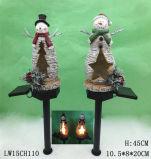Decoração para casa Xmas Statue Candle Holder Furniture