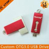 Presente personalizado OTG2.0 / 3.0 Memória flash USB de telefone celular dupla (YT-3204-03)