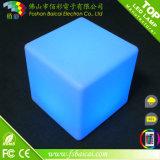 Presidente PE plástico LED Cubo con la tabla de cristal
