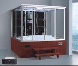 Tamaño grande 2200mm Sauna cuadrada del vapor con Jacuzzi y Tvdvd para más persona (AT-GT0225TVDVD)