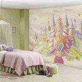 Murales gráficos inspirados de la pared, papel pintado mítico para el sitio de la niña