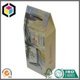 Sacchetto piegato dell'imballaggio del documento del regalo dei monili di marchio della stagnola d'argento