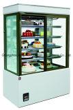 Le marbre a basé le réfrigérateur commercial en verre d'étalage de gâteau avec du ce