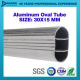 Profil d'extrusion de l'aluminium 6063 de tube de garde-robe de bride de fixation anodisé