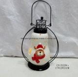 De LEIDENE Aangestoken Ceramische Lantaarn van de Kerstman voor de Decoratie van Kerstmis