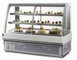 De duurzame Naar maat gemaakte Multifunctionele Ijskast van de Vertoning van de Cake van het Glas met Ce