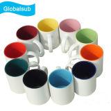 taza interna de cerámica del color 11oz para la sublimación