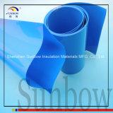 azzurro dell'involucro dello Shrink di calore del PVC di larghezza di 70mm per il pacchetto della batteria 4X18650