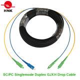 FC/PC - Tipo cabo de SC/PC GJXFH de correção de programa do cabo pendente da fibra óptica