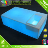 Cor branca amarela azul vermelha verde que muda a mesa de centro plástica do diodo emissor de luz da sala de estar do Chaise