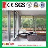 6mm ausgeglichenes Glas-schiebendes Glas-Aluminiumtür mit Bescheinigung