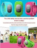 Локатор Smartwatch GSM GPRS GPS Wristwatch малыша детей вахты экрана Q50 OLED франтовской Анти--Потерянное отслежывателем для цвета Ios Android белого