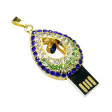 Crystal USB Flash Disk Necklace Jóias USB Flash Drive