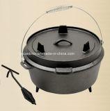 中国の鋳鉄のキャンプの調理器具の工場製造者Dia 27cm