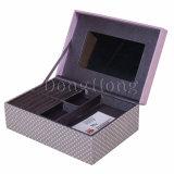 Kundenspezifisches Metall eingehängter Kappe steifer PU-lederner Geschenk-Kasten