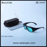 Óculos de proteção da proteção dos vidros de segurança do laser do O.D4+@ 600-700nm para lasers & o rubi vermelhos com Frame33