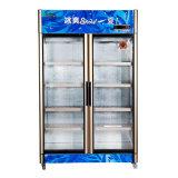 Refrigerador ereto da Três-Porta da abertura para a venda com luz do diodo emissor de luz