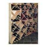 24 fabbriche di legno del cubo del vino del cubo compatto della cantina della bottiglia