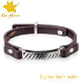 Stlb-058 venden al por mayor 2016 nuevas pulseras del cuero del diseño con palabras