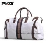 Förderung PU Leather Handle Canvas Travel Bag, Practical Tote Luggage Bag, Sports Bag für Outdoor
