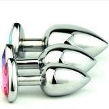 Il sesso anale della spina del cuore dei monili di cristallo a forma di all'ingrosso dell'acciaio inossidabile gioca i formati medio 40mm x 90mm GS0210