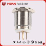 セリウムのRoHS (19mm)のリング照明の瞬時の受けとる産業押しボタンスイッチ