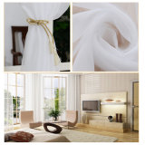 Cortina completa do Voile contínuo de linho do algodão da alta qualidade (17F0089)