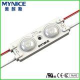 IP67 2LEDs 2835 SMD impermeabilizan el módulo del LED con la lente