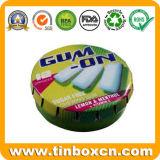 Ronda-Clic Clac caja de la lata, a presión Tapa menta poder de lata, la lata de la goma, latas de caramelos